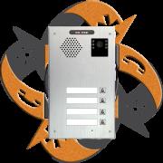 Escene IV740-04 - Video Citofono Portero IP PoE 4 Botones