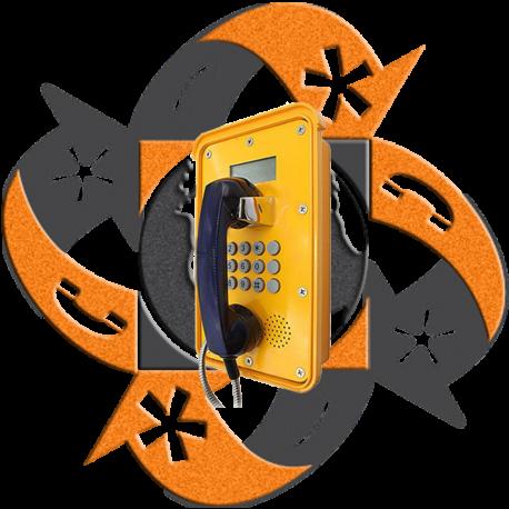 Koon Tech KNSP-16 - Teléfono SIP Trabajo Pesado