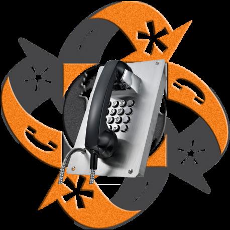 Koon Tech KNZD-07B - Teléfono SIP Teclado