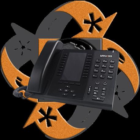Univois U6S Teléfono Gigabit PoE