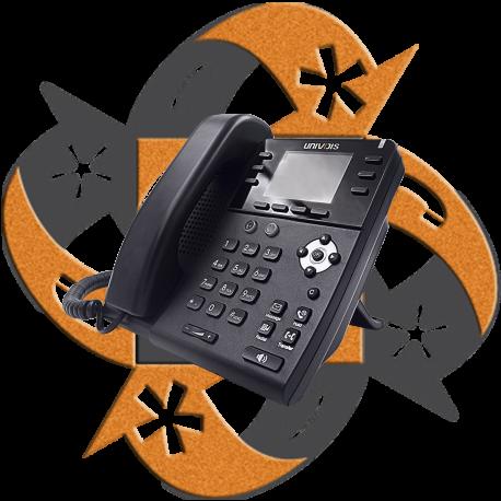 Univois U3S Teléfono Gigabit PoE