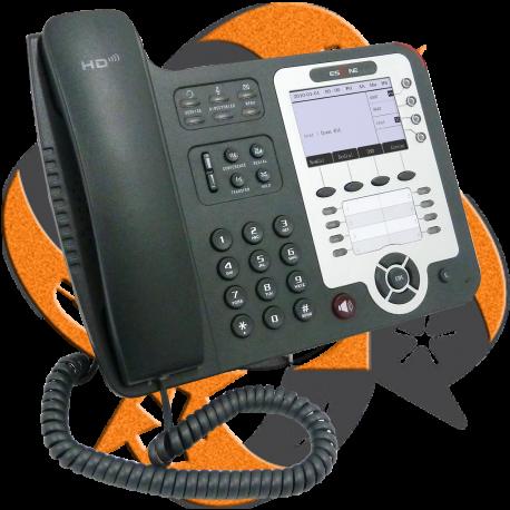 Escene DS412-P - Teléfono IP Recepción Dual PoE