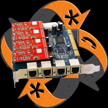 Zycoo ZA4P - Tarjeta PCI - 4 FXO-FXS